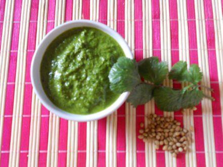 Guacamole con cilantro
